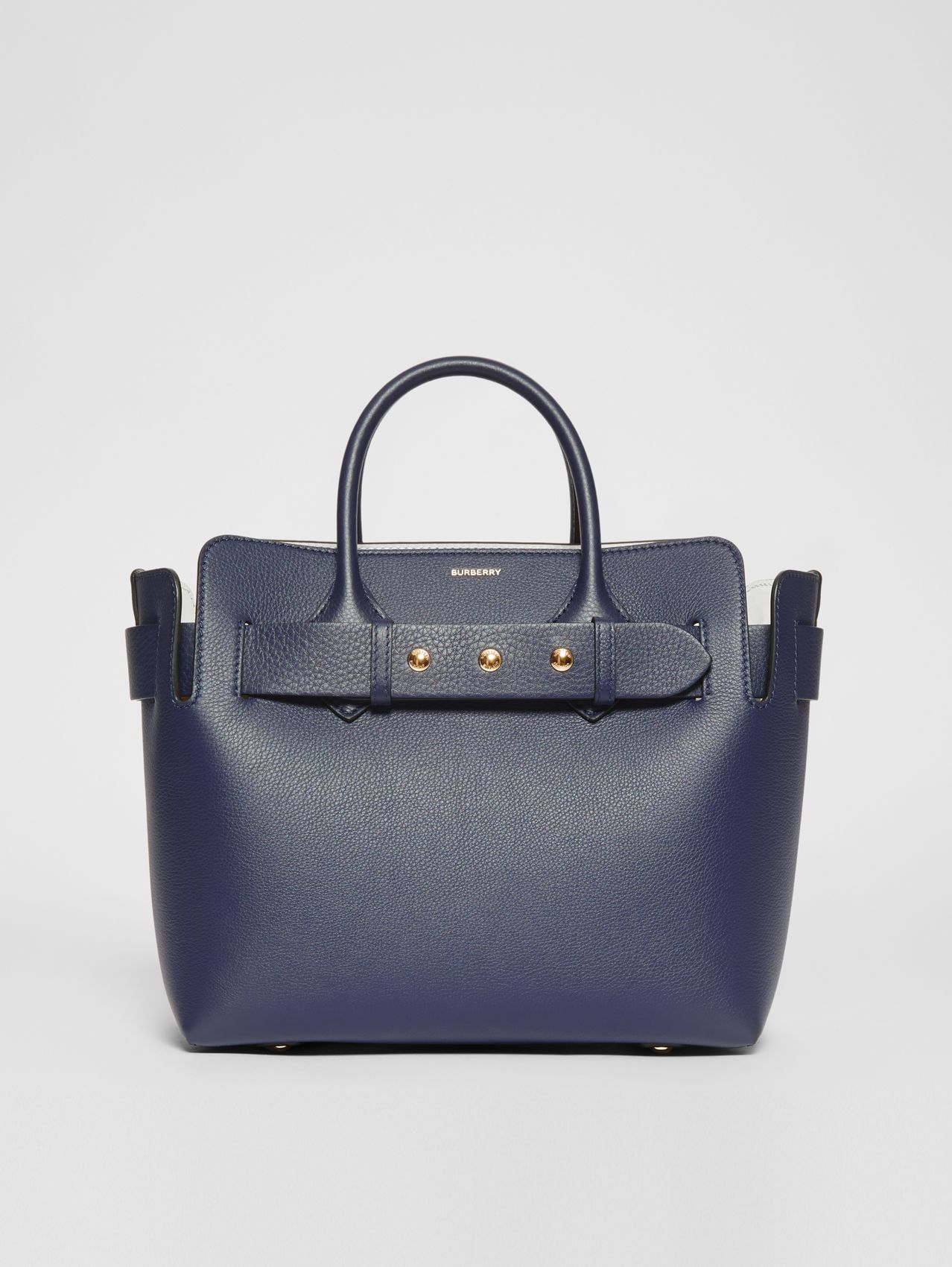 The Small Leather Triple Stud Belt Bag in Regency Blue