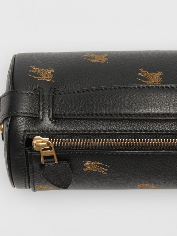 Borsa The Barrel in pelle con marchio del cavaliere equestre (Nero) - Donna | Burberry - cell image 1