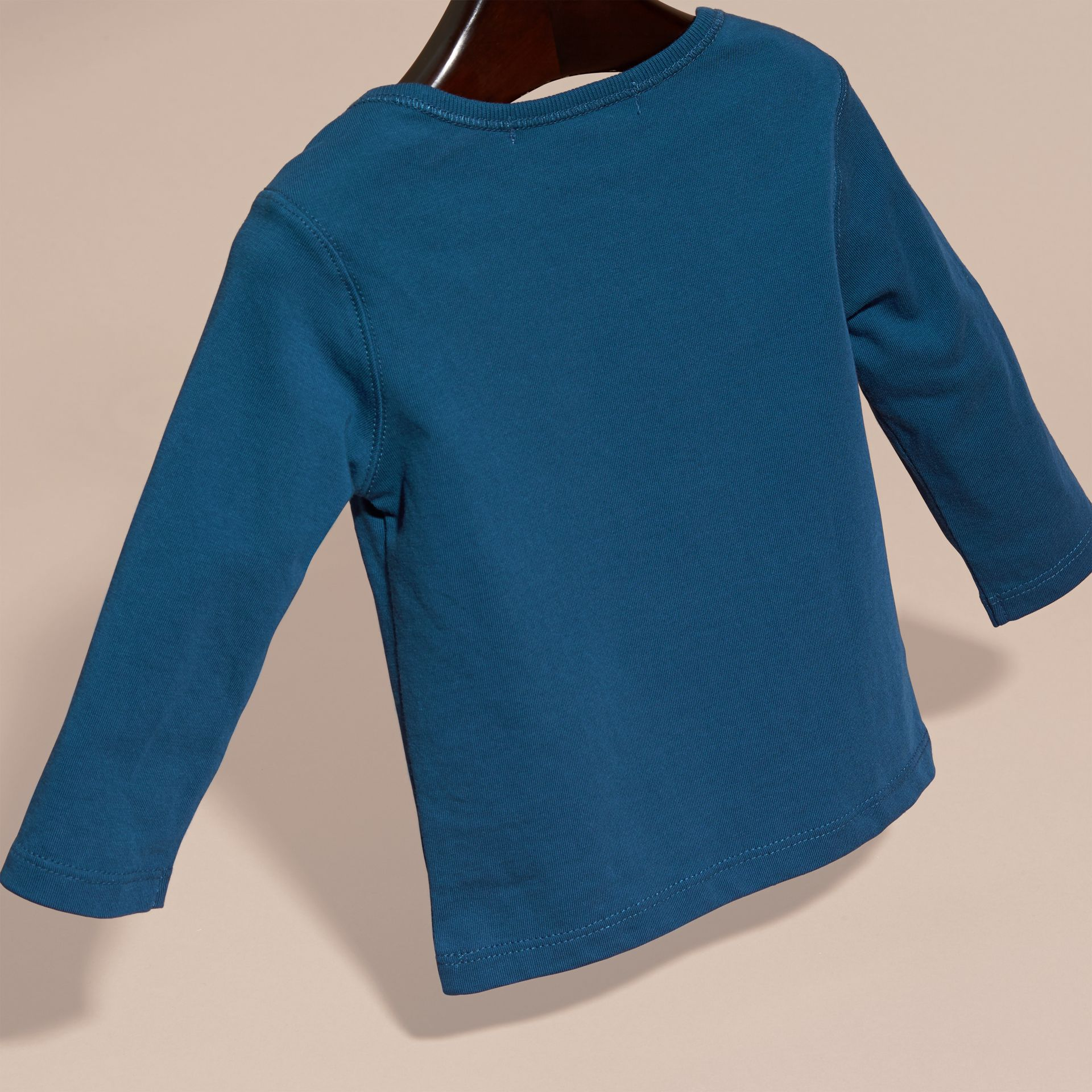 Mineral blue Check Pocket Long Sleeve T-Shirt Mineral Blue - gallery image 4