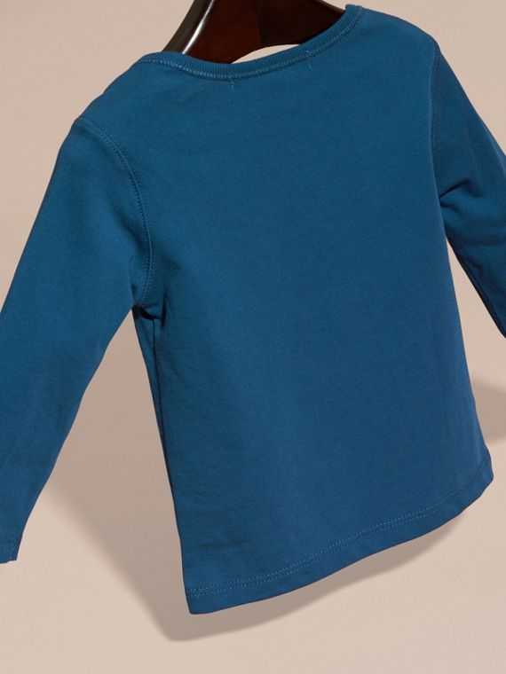 Mineral blue Check Pocket Long Sleeve T-Shirt Mineral Blue - cell image 3
