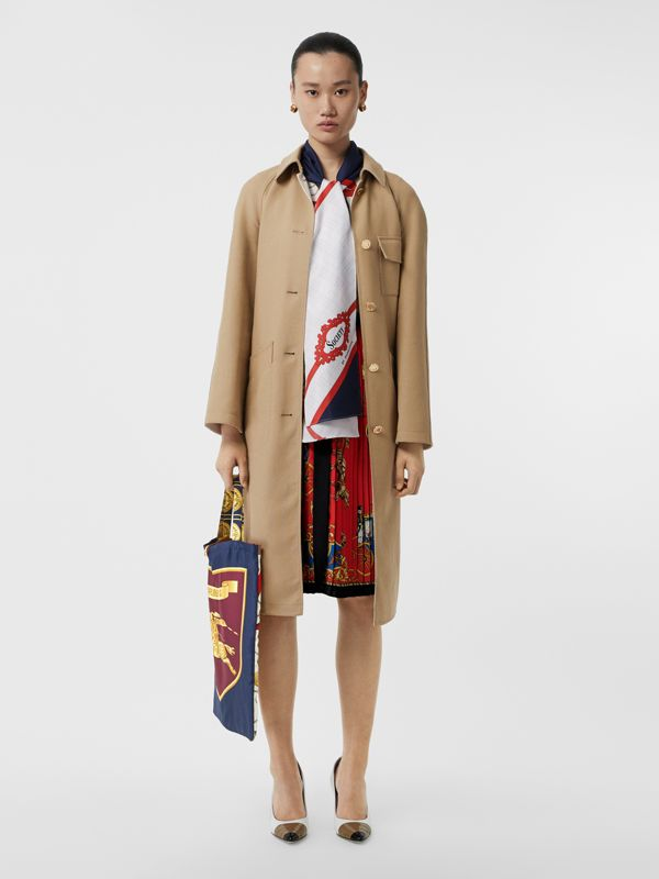 Archive Scarf Print Silk Tote in Military Red/burgundy - Women | Burberry Australia - cell image 2