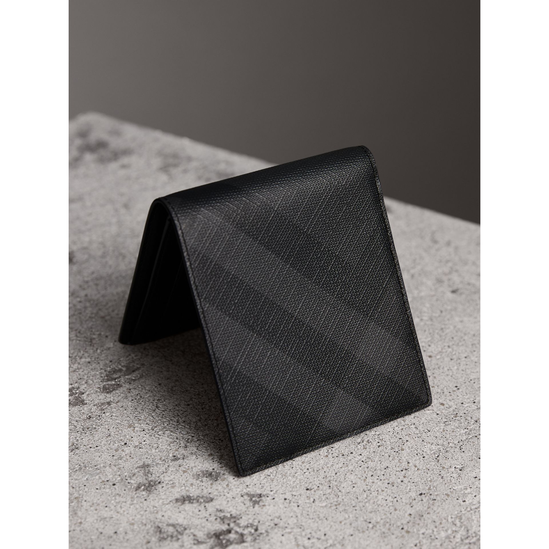 London Check ID Wallet in Charcoal/black - Men | Burberry Australia - gallery image 2