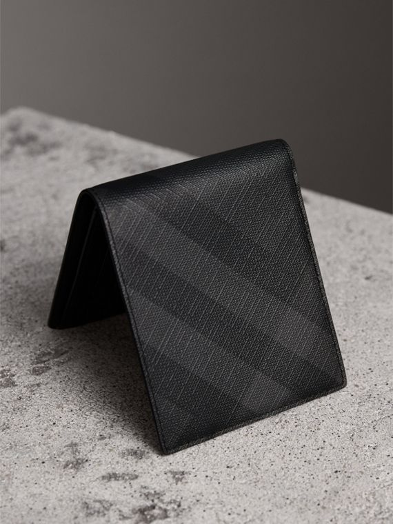 London Check ID Wallet in Charcoal/black - Men | Burberry Australia - cell image 2