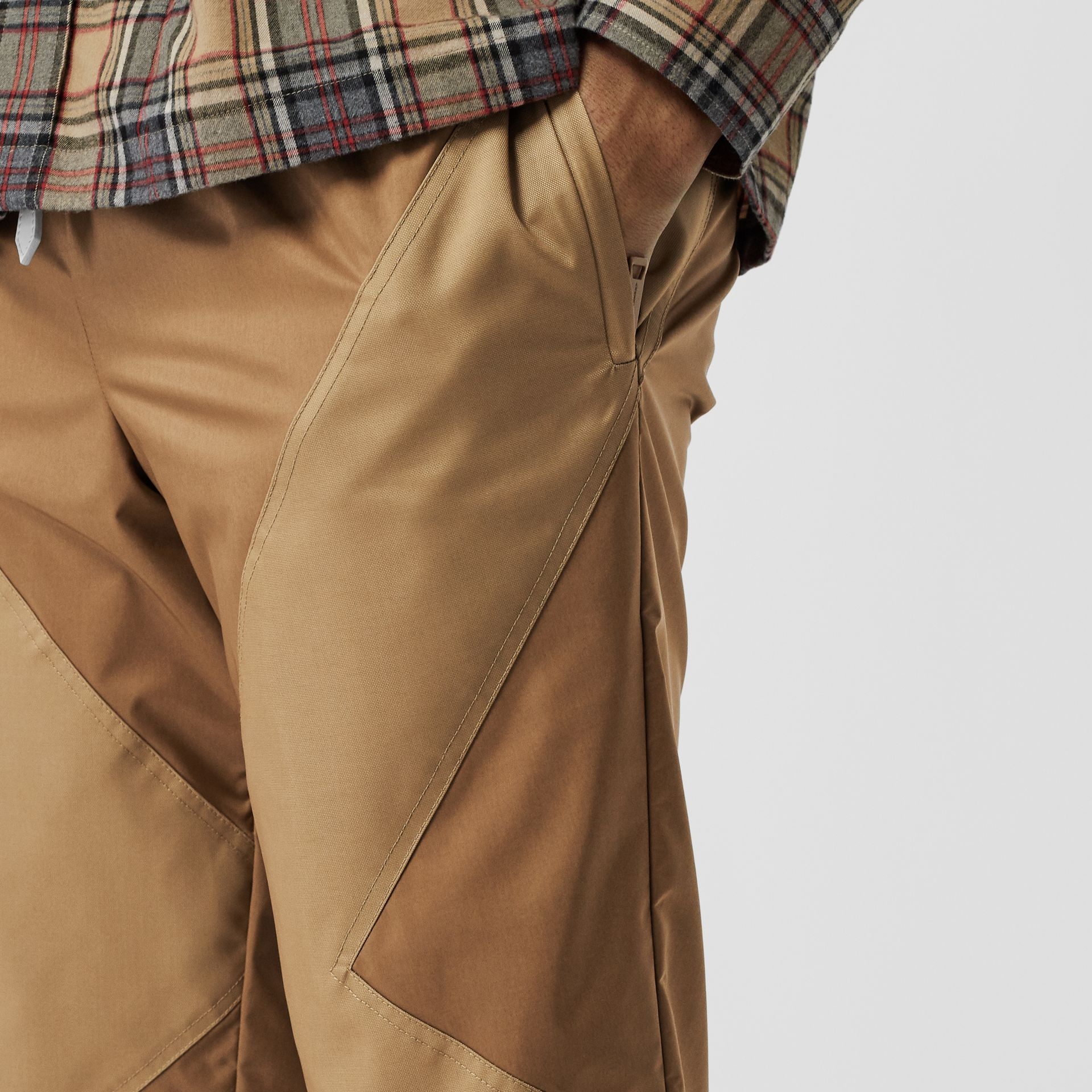 Two-tone Nylon Trackpants in Warm Walnut - Men | Burberry United States - gallery image 1