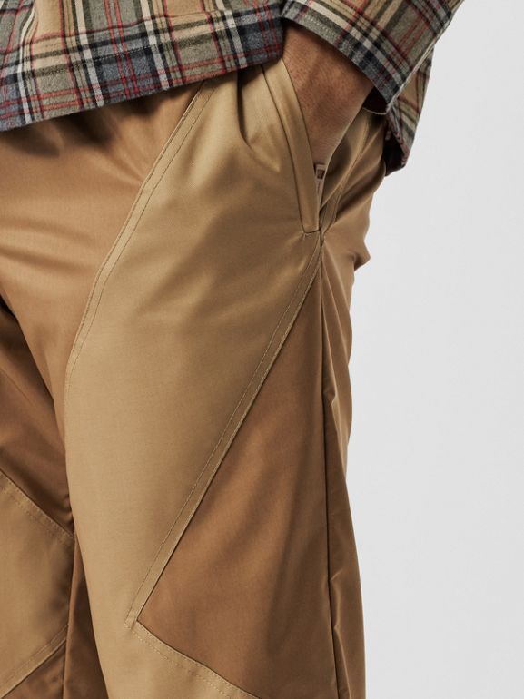 Two-tone Nylon Trackpants in Warm Walnut - Men | Burberry United States - cell image 1