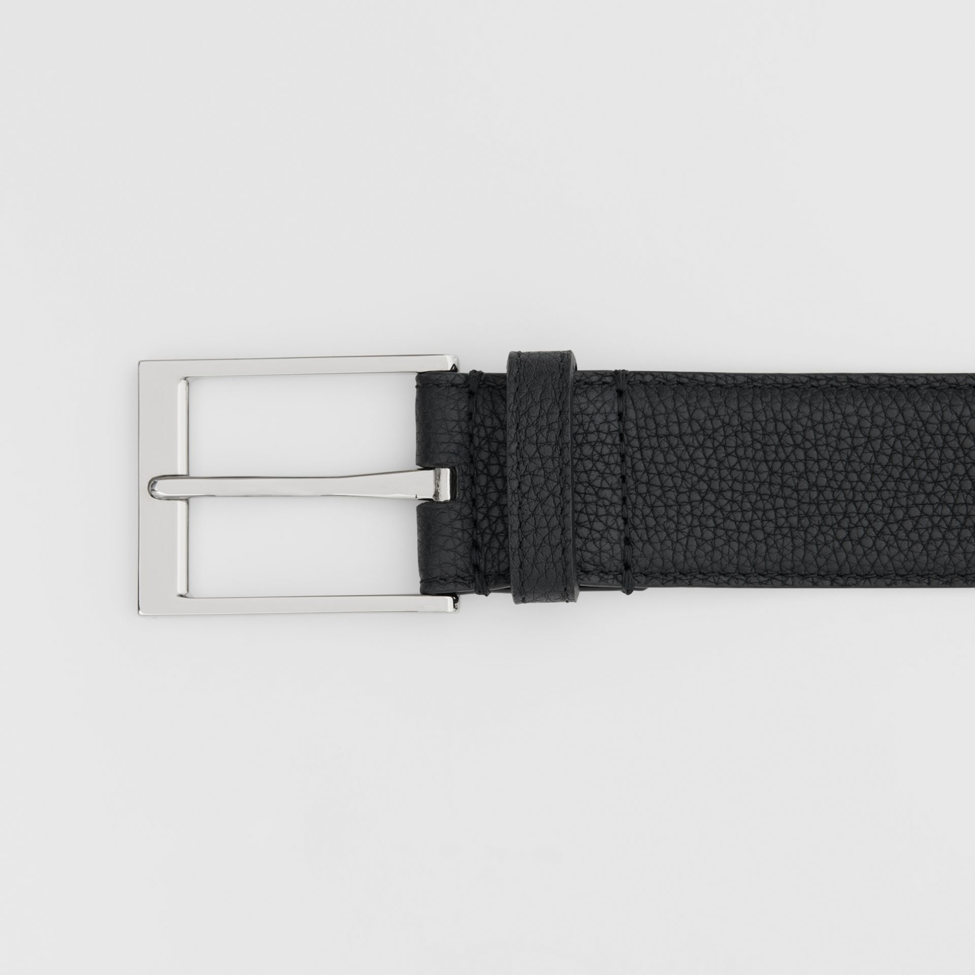 Ceinture en cuir grainé (Noir) | Burberry - photo de la galerie 1
