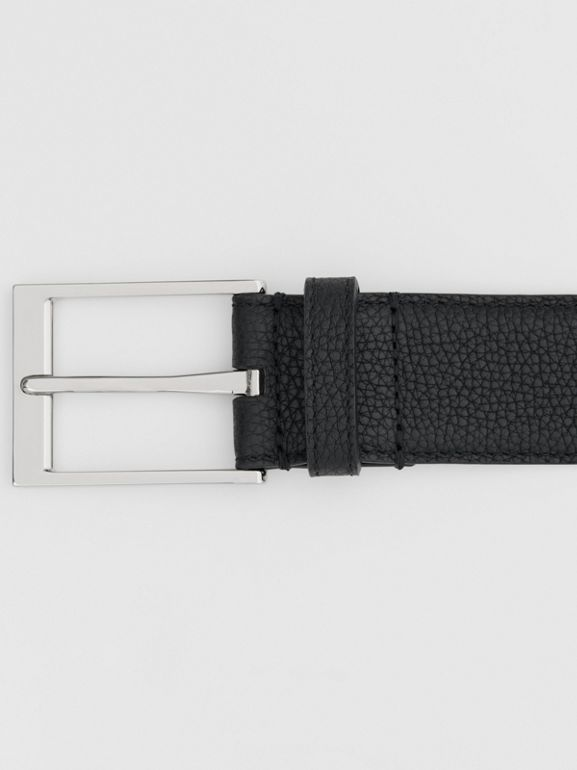 Grainy Leather Belt in Black | Burberry United Kingdom - cell image 1