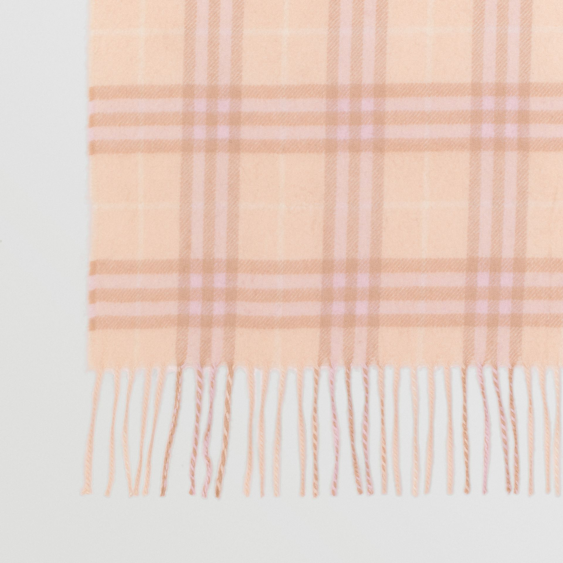 The Classic Vintage Check Cashmere Scarf in Dusty Pink | Burberry - gallery image 1