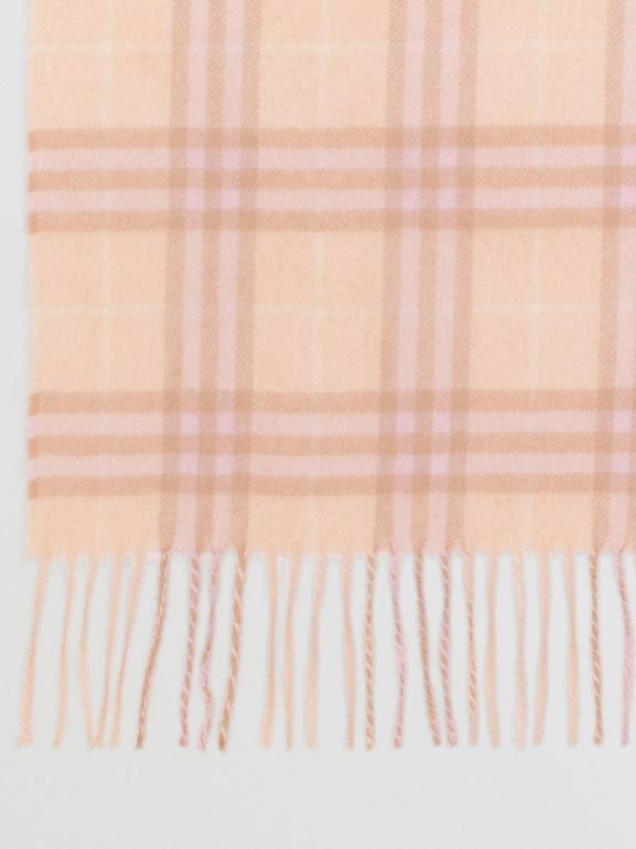 The Classic Vintage Check Cashmere Scarf in Dusty Pink | Burberry - cell image 1