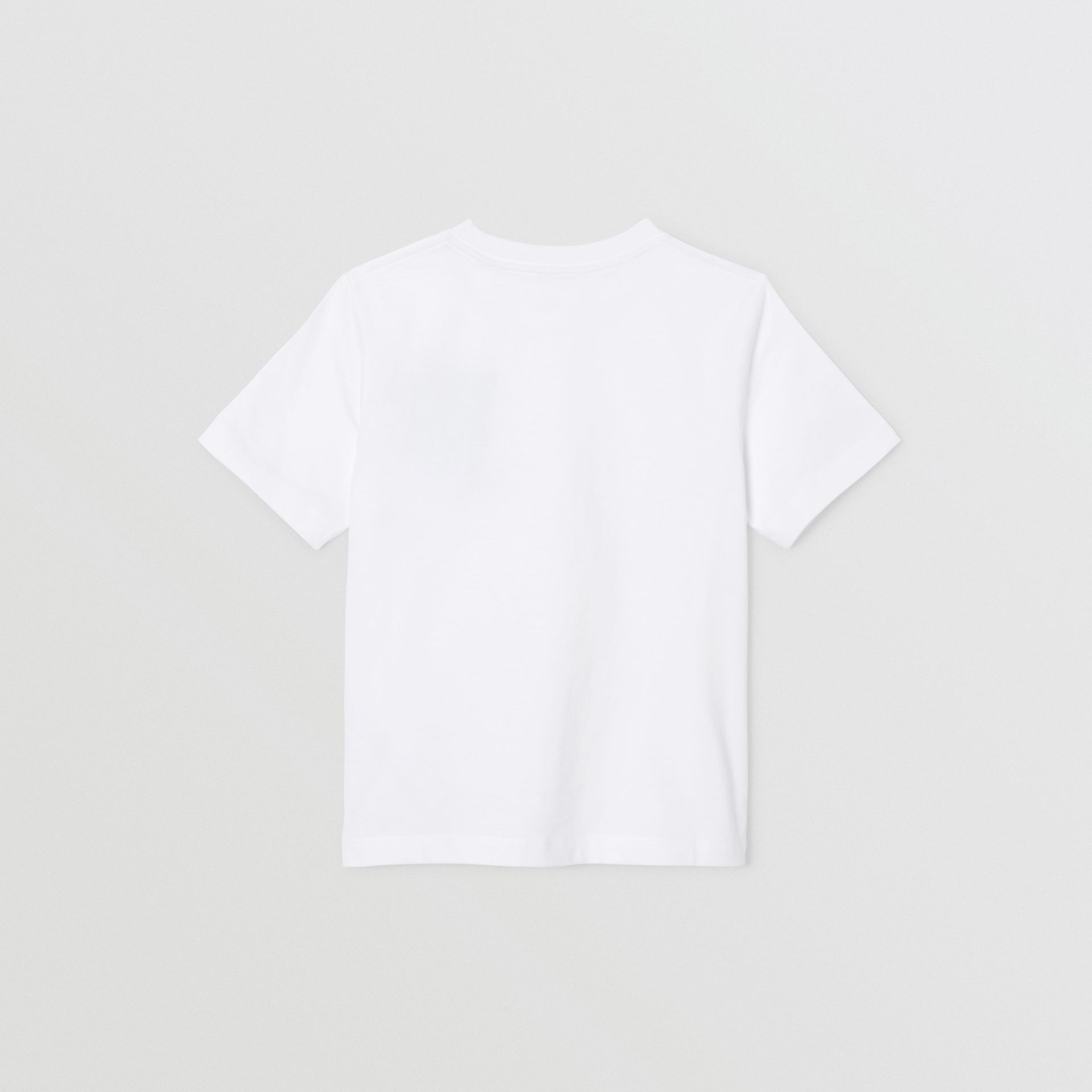 Monogram Motif Cotton T-shirt in White | Burberry - gallery image 4