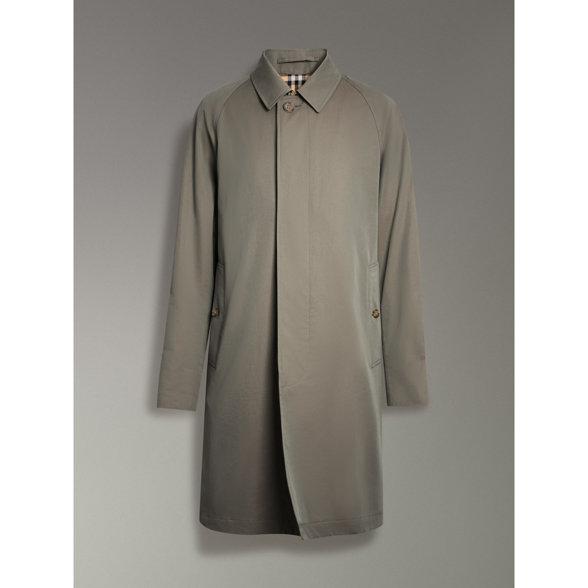 The Camden Car Coat in Chalk Green - Men | Burberry Canada - gallery image 3