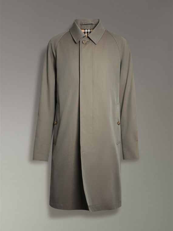 The Camden Car Coat in Chalk Green - Men | Burberry - cell image 3