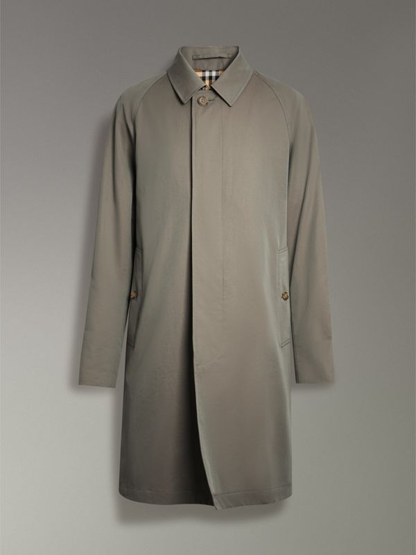 The Camden Car Coat in Chalk Green - Men | Burberry Canada - cell image 3