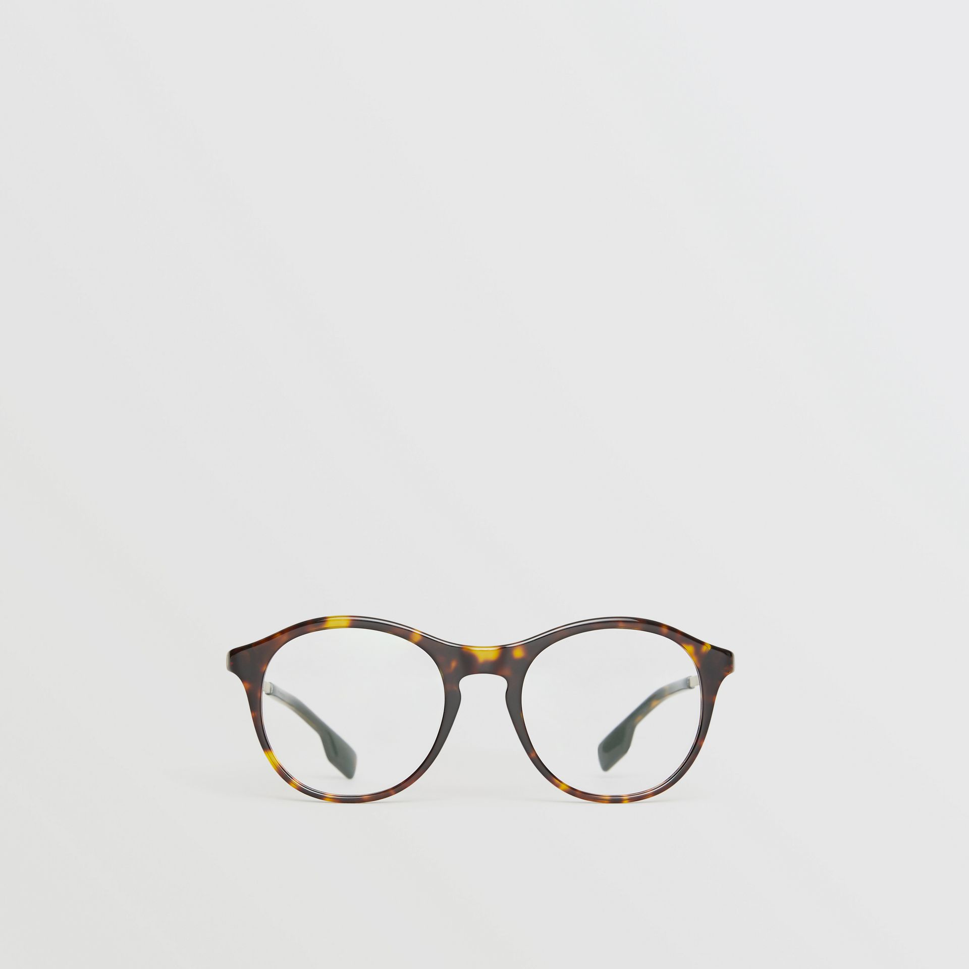 Round Optical Frames in Tortoise Shell - Women | Burberry - gallery image 0