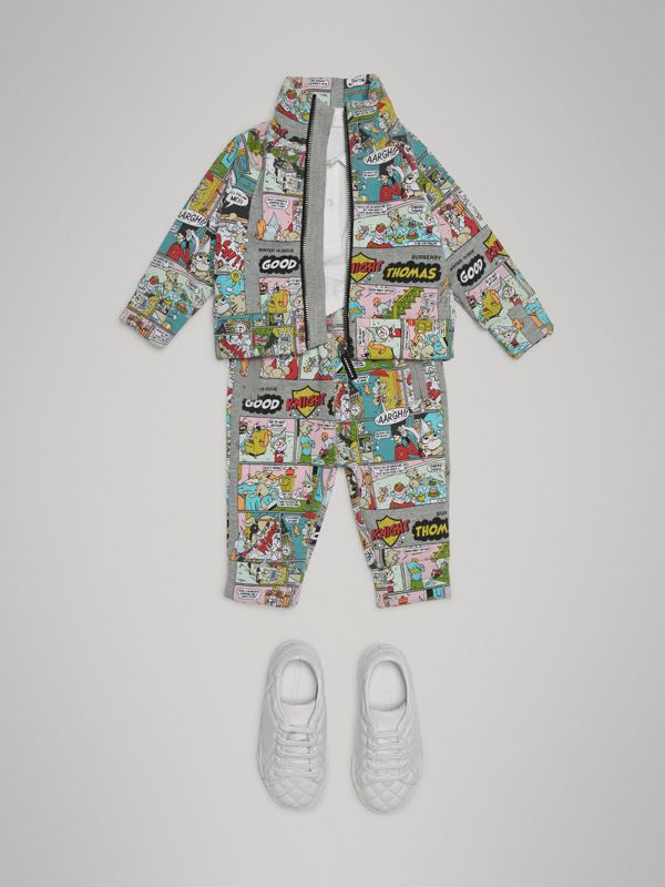 Comic Strip Print Cotton Track Top in Miscellaneous - Children | Burberry Hong Kong - cell image 2