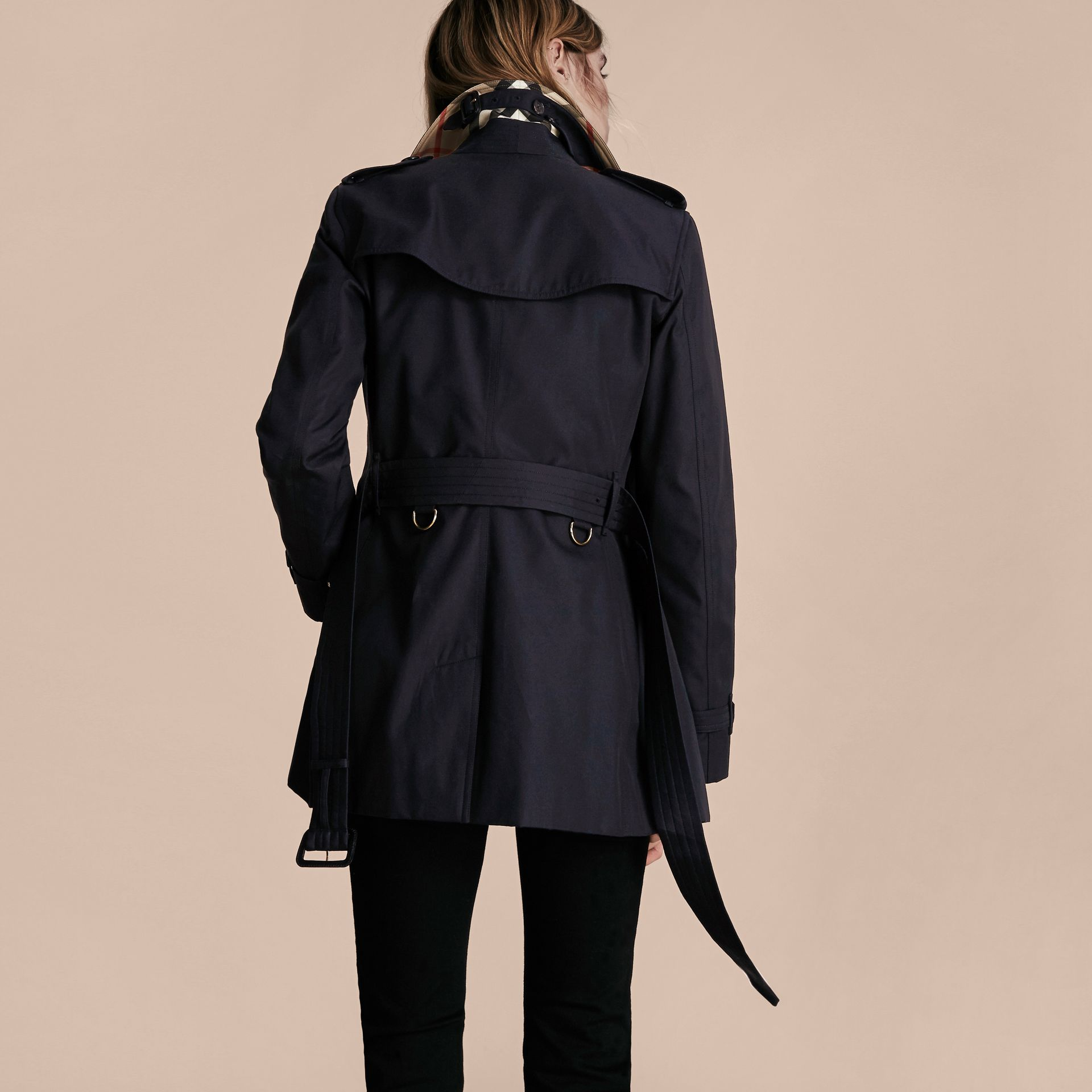 Navy The Kensington – Short Heritage Trench Coat Navy - gallery image 3