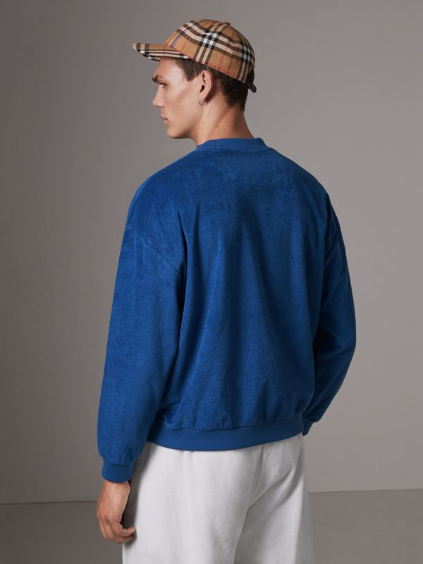Archive Logo Towelling Sweatshirt in Canvas Blue - Men | Burberry - cell image 2