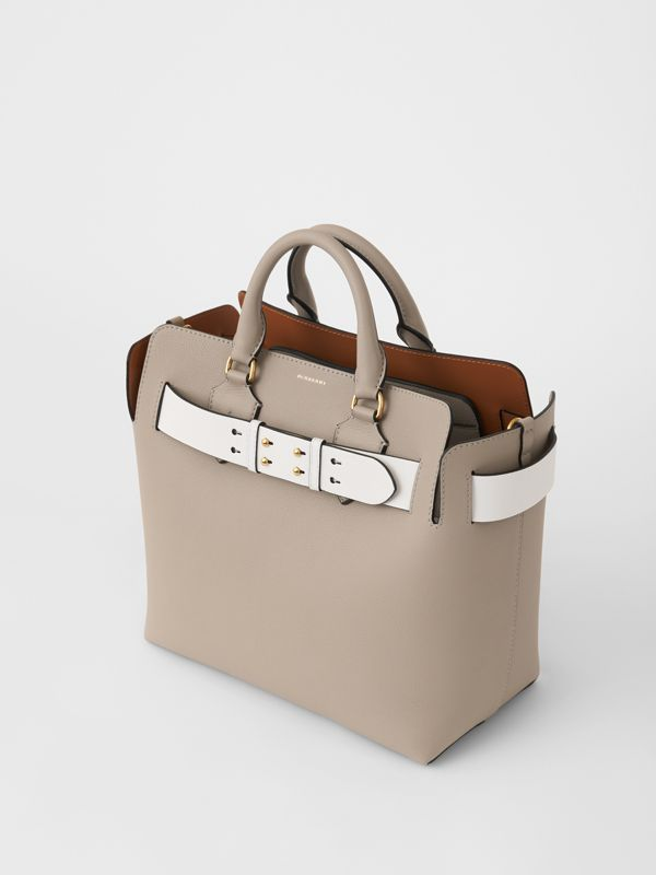 The Medium Leather Belt Bag in Mineral Grey - Women | Burberry Australia - cell image 3