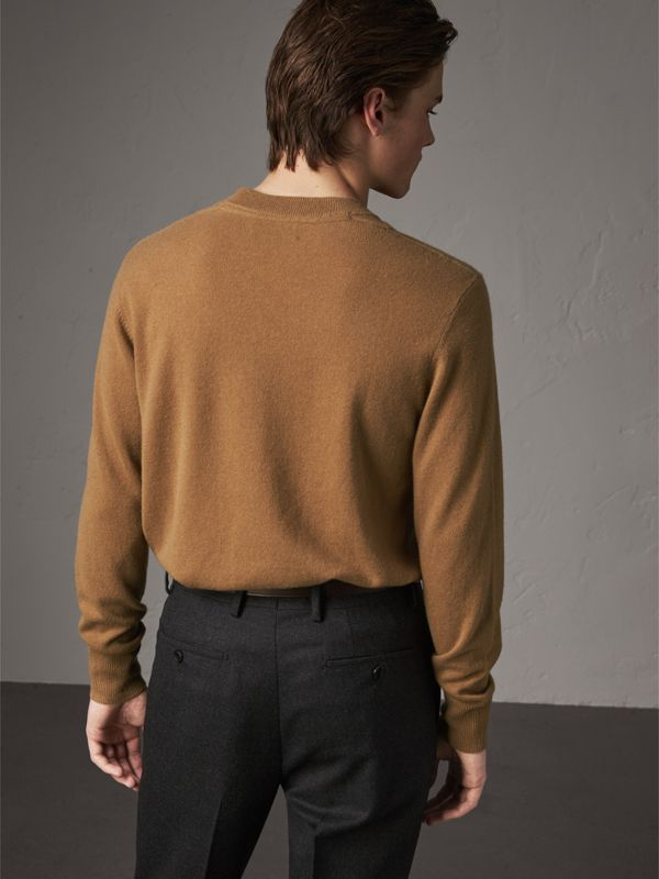 Cashmere V-neck Sweater in Camel - Men | Burberry - cell image 2