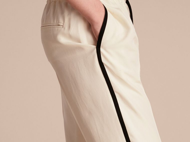 Parchment Tailored Silk Track Pants - cell image 4