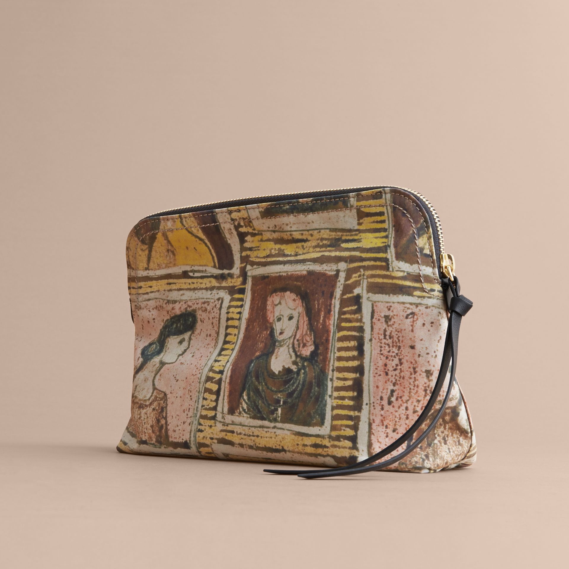 Large Zip-top Framed Heads Print Pouch - Women | Burberry - gallery image 4