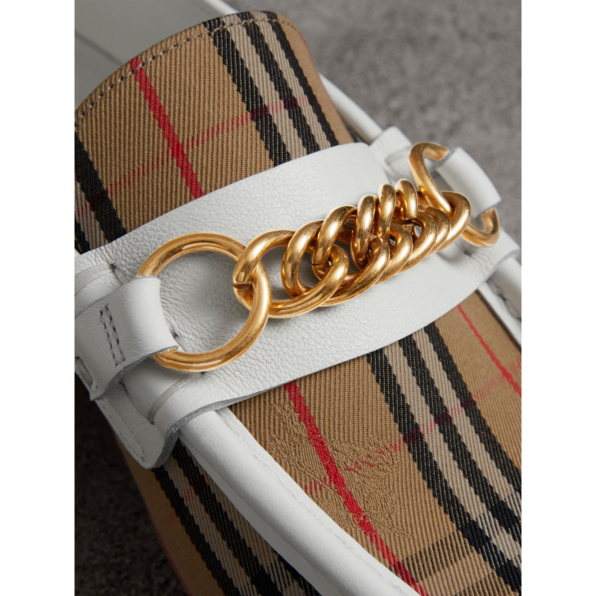 The 1983 Check Link Loafer in Off White - Women | Burberry United Kingdom - gallery image 1