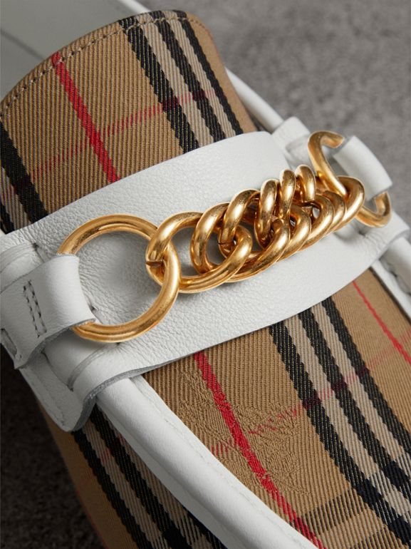 The 1983 Check Link Loafer in Off White - Women | Burberry United Kingdom - cell image 1