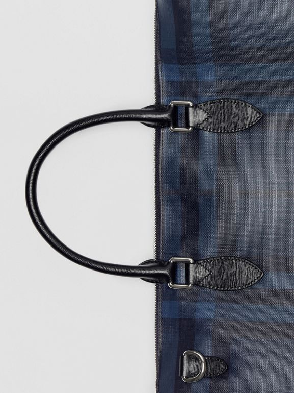 Large London Check Briefcase in Navy/black - Men | Burberry Australia - cell image 1