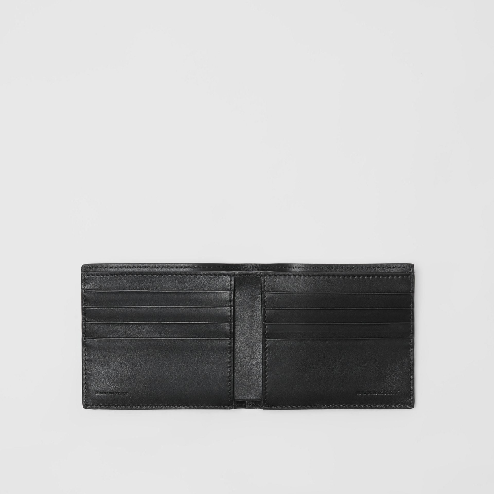 Dreamscape Print Leather International Bifold Wallet in Black/white - Men | Burberry United Kingdom - gallery image 3