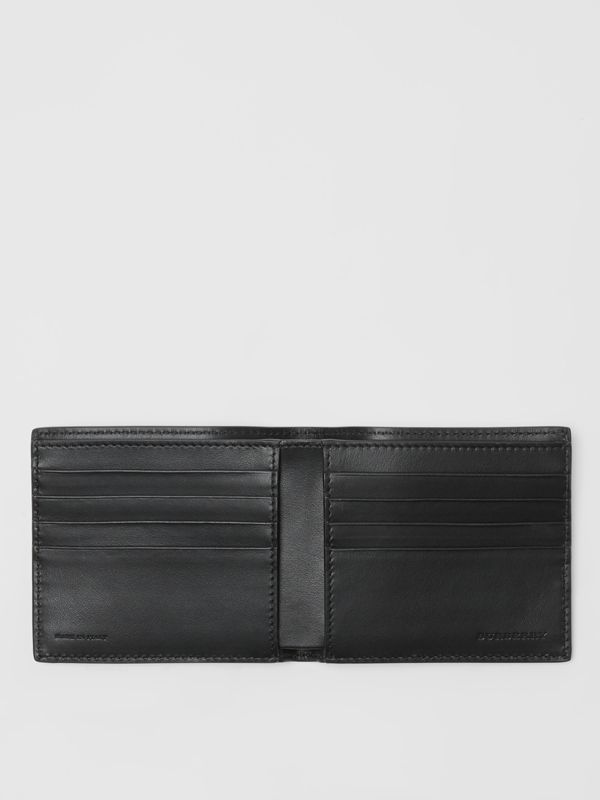 Dreamscape Print Leather International Bifold Wallet in Black/white - Men | Burberry United Kingdom - cell image 3