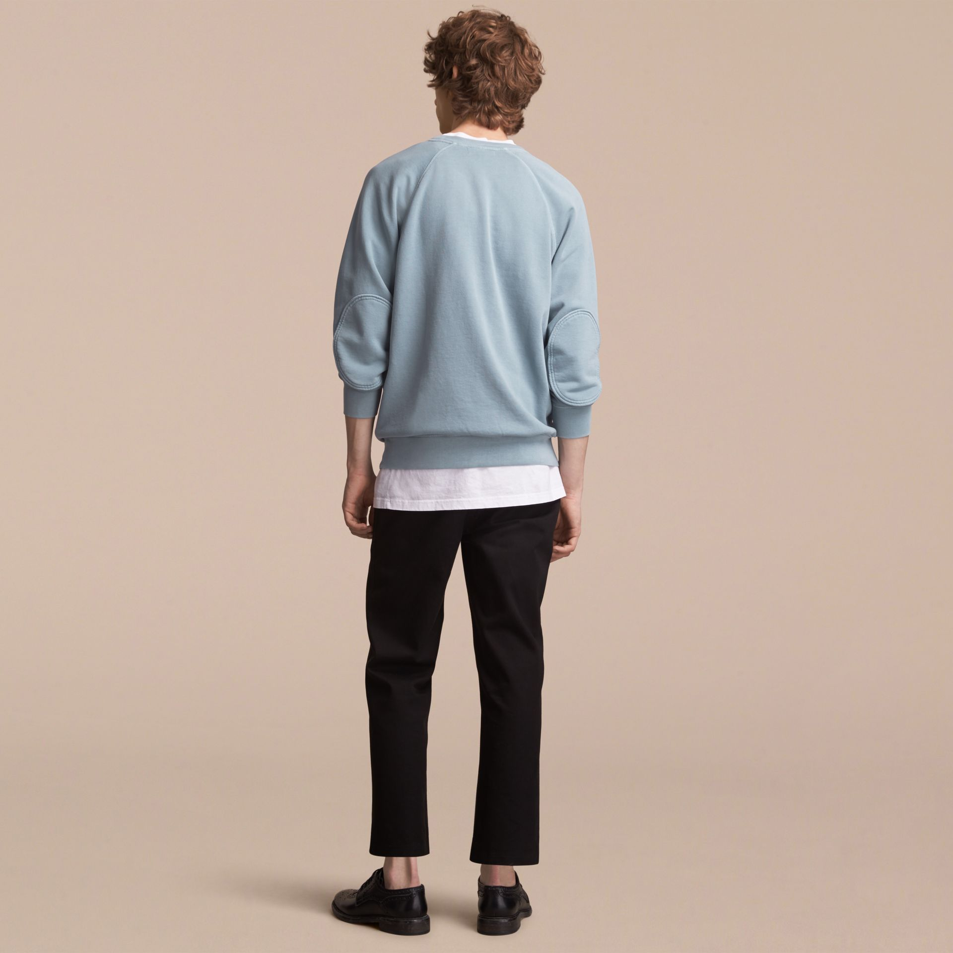 Unisex Pigment-dyed Cotton Oversize Sweatshirt in Dusty Blue - gallery image 3