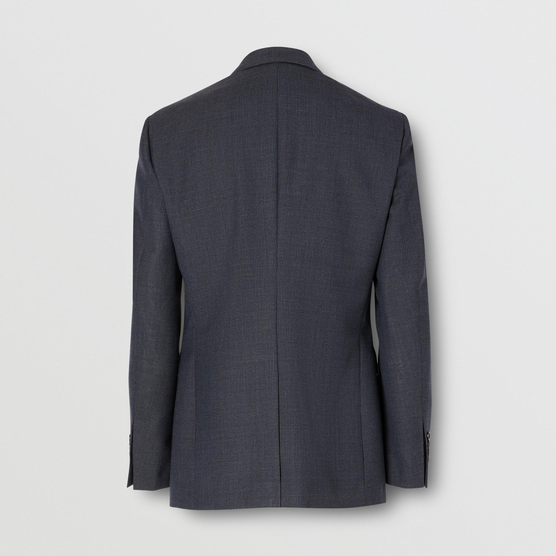 Slim Fit Wool Suit in Navy - Men | Burberry Australia - gallery image 7