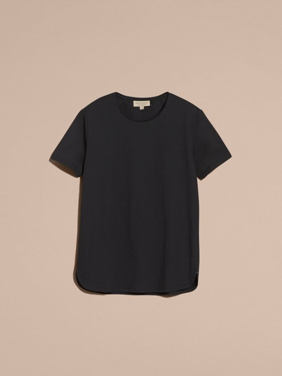 Crew Neck Cotton T-shirt in Black - Men | Burberry - cell image 3