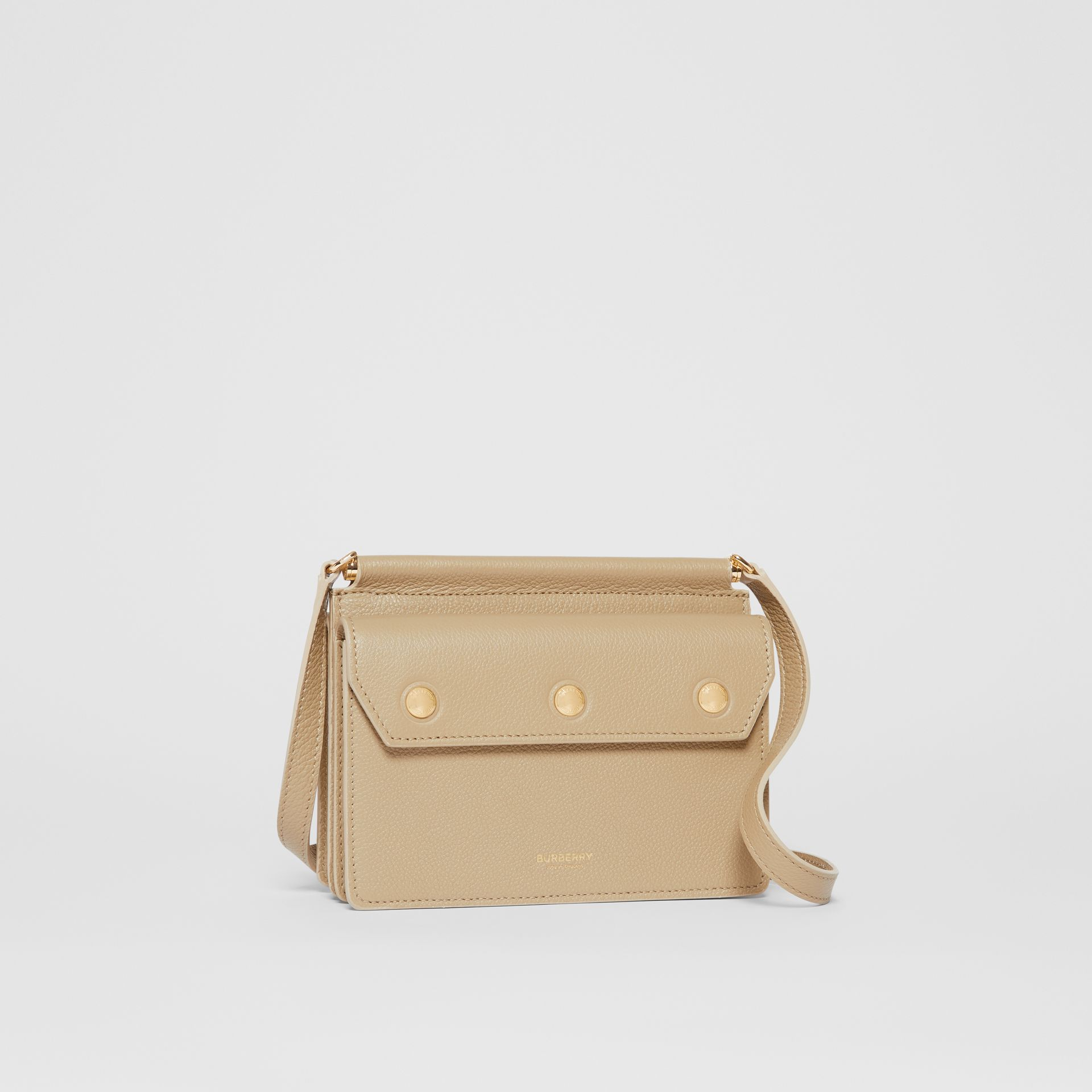 Mini Leather Title Bag in Honey - Women   Burberry United States - gallery image 6