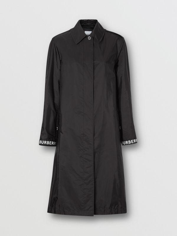 Logo Detail ECONYL® Car Coat in Black - Women | Burberry - cell image 3