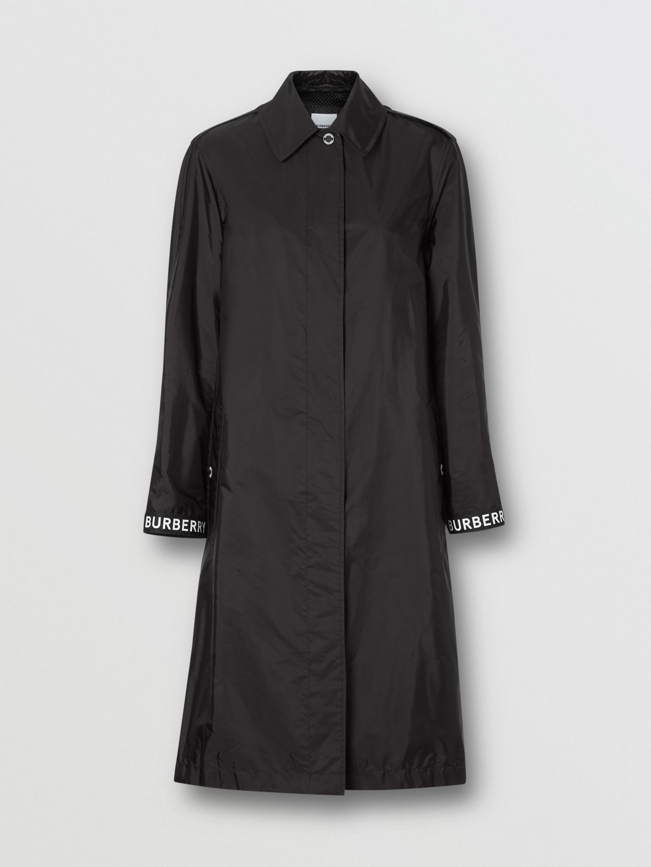 Logo Detail ECONYL® Car Coat in Black
