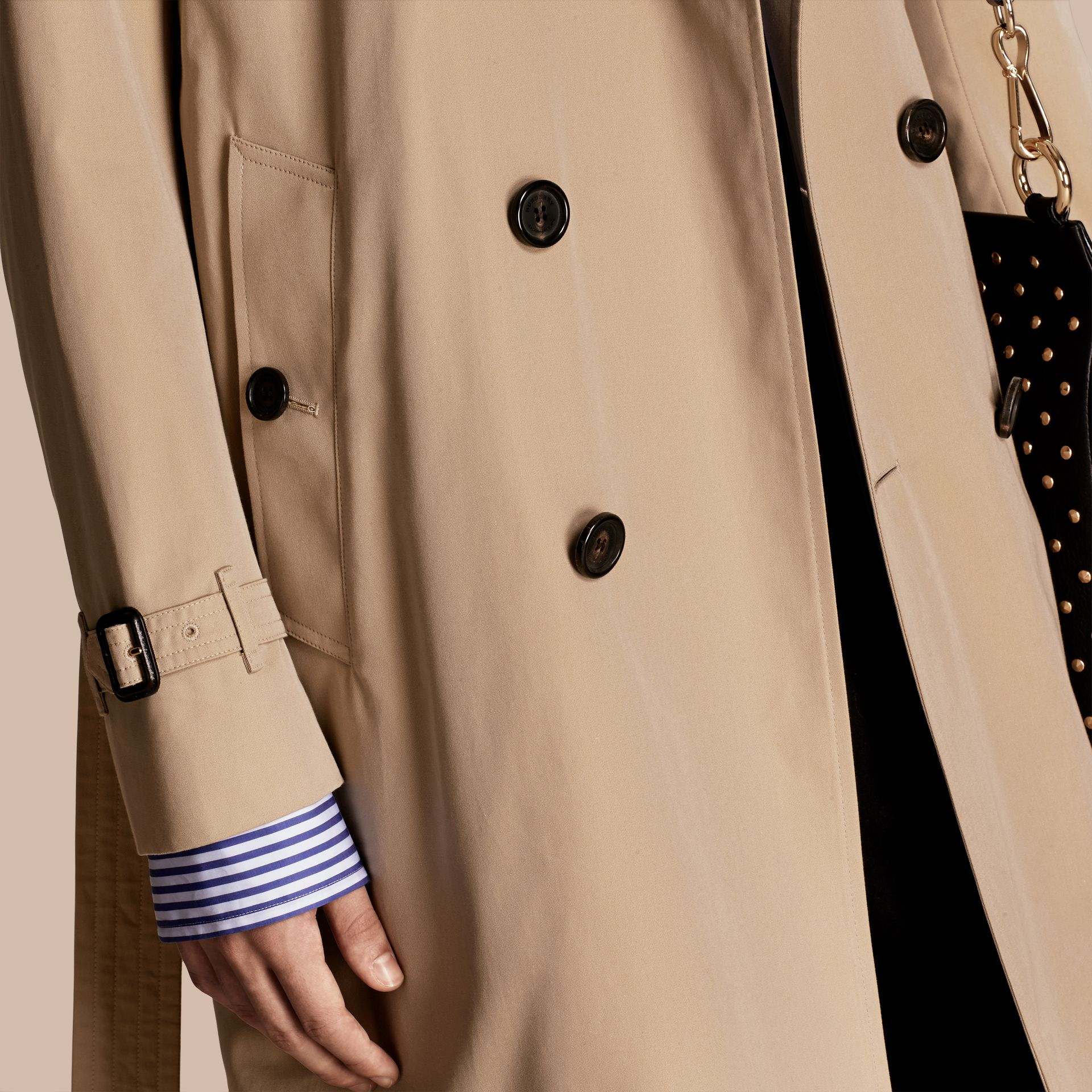 Honey Deconstructed Cotton Gabardine Heritage Trench Coat - gallery image 6
