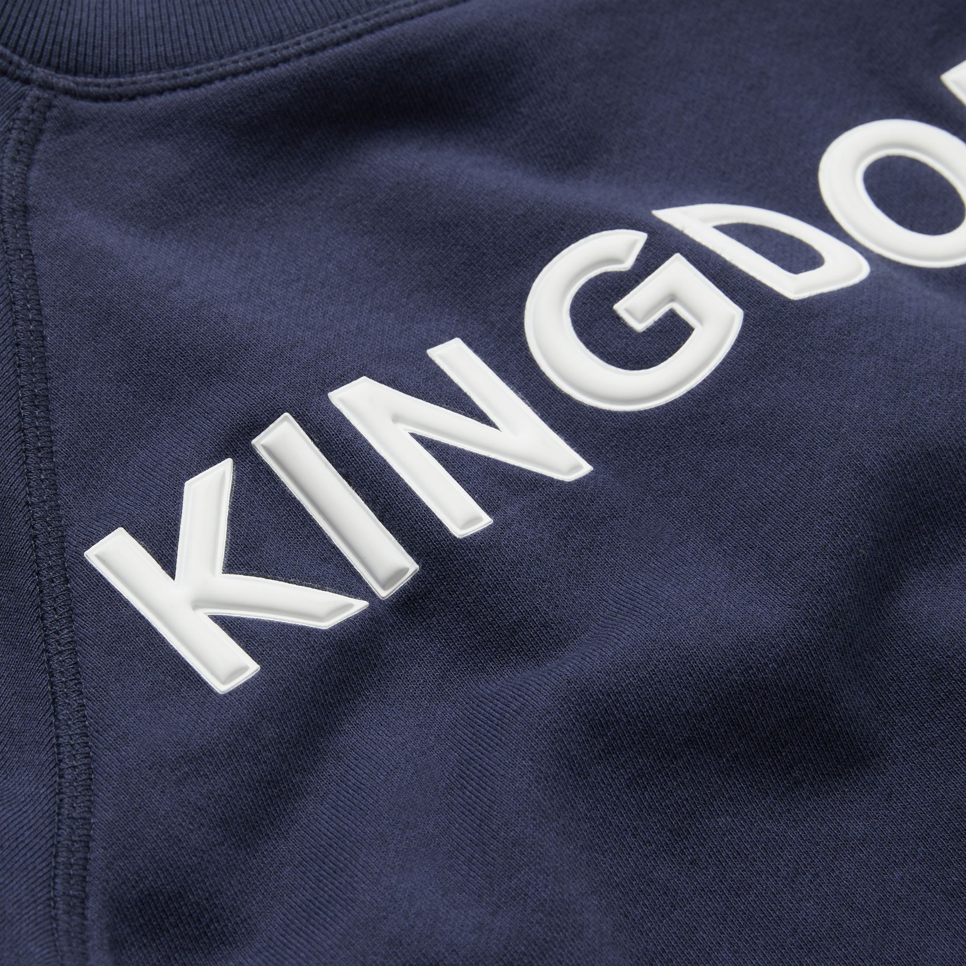Kingdom Motif Cotton Sweatshirt in Slate Blue Melange | Burberry - gallery image 1