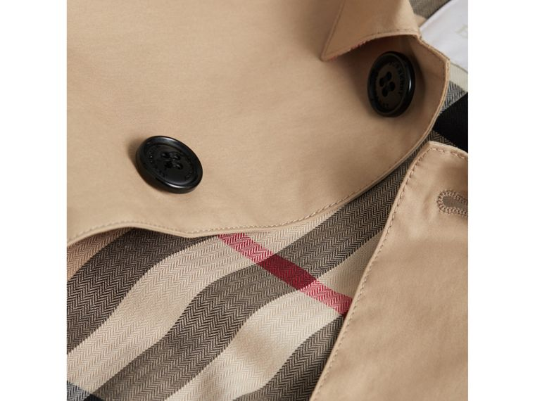 Mercerised Cotton Car Coat in Honey - Boy | Burberry - cell image 1
