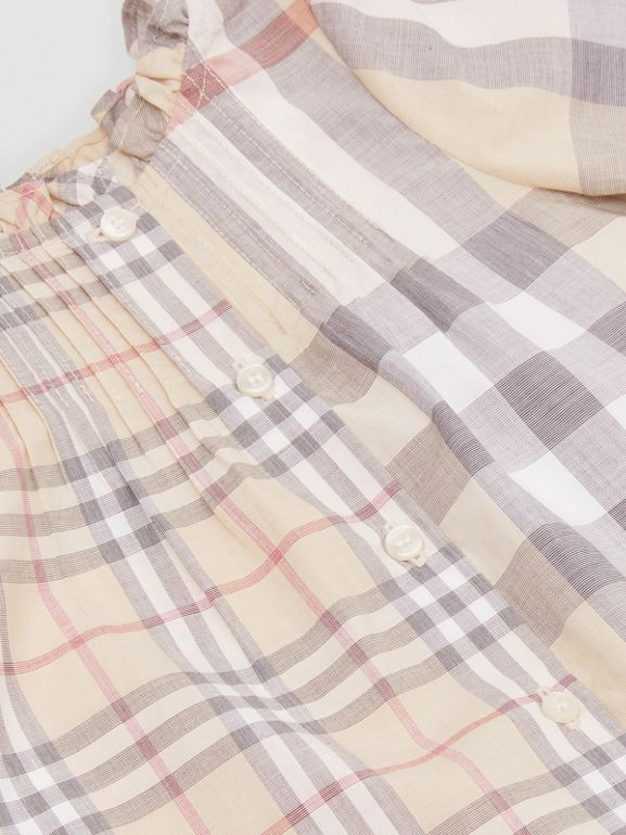 Robe et bloomer en coton check (Stone Pâle) - Enfant | Burberry - cell image 1