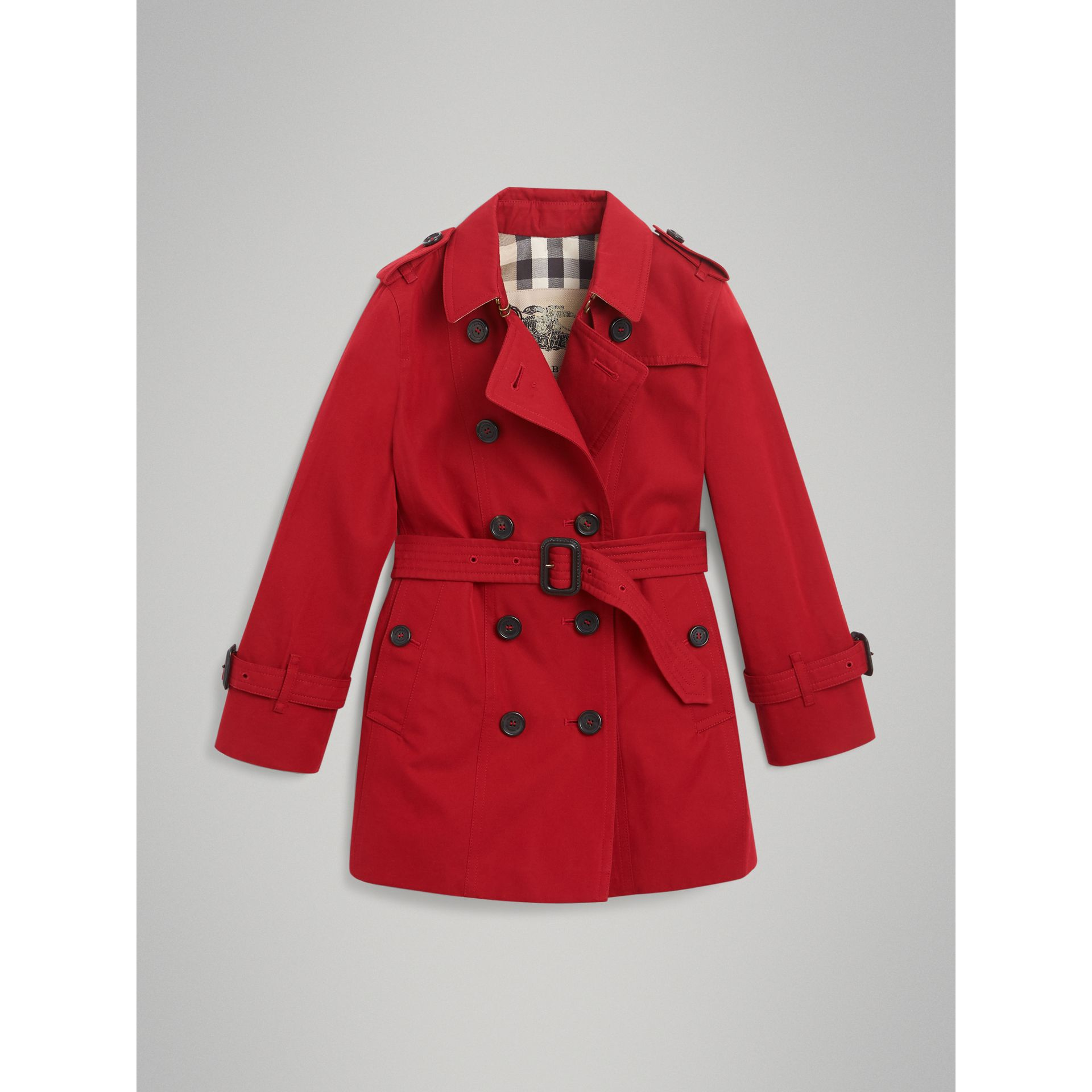 The Sandringham Trench Coat in Parade Red - Girl | Burberry - gallery image 3