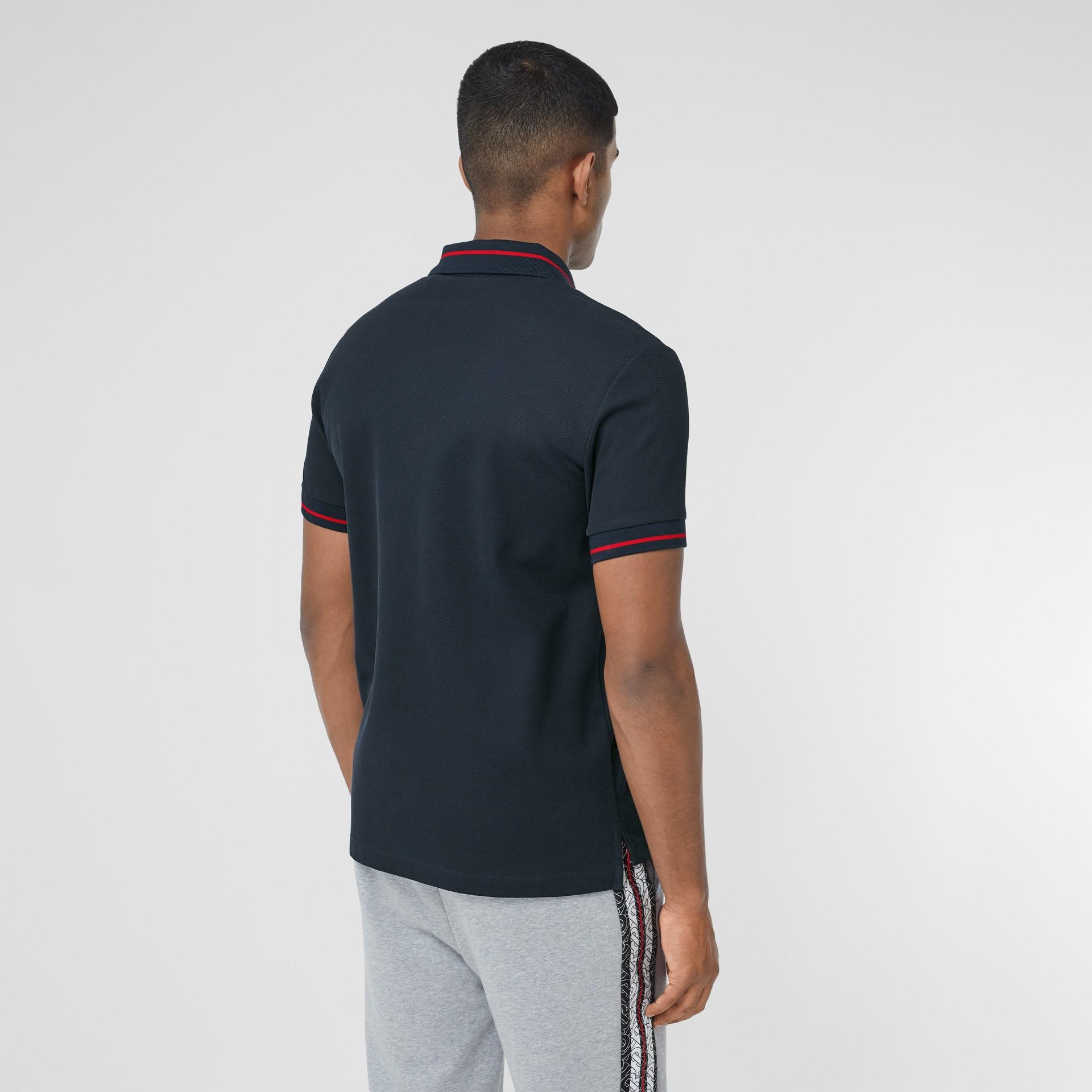 Logo Appliqué Cotton Piqué Polo Shirt in Navy - Men | Burberry Hong Kong S.A.R - gallery image 2