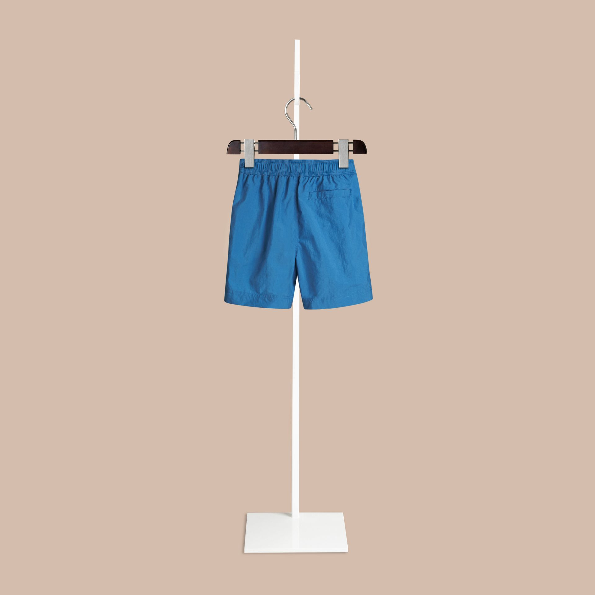Lightweight Swim Shorts in Lupin Blue | Burberry - gallery image 1
