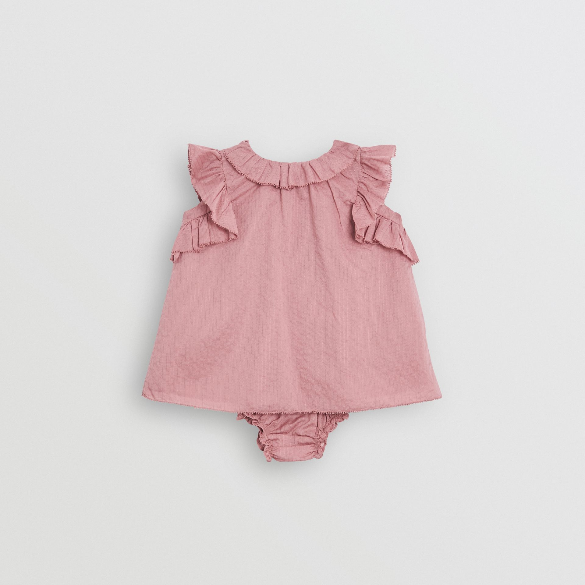 Robe en coton à volants et bloomer (Baie De Sureau Clair) - Enfant | Burberry Canada - photo de la galerie 0