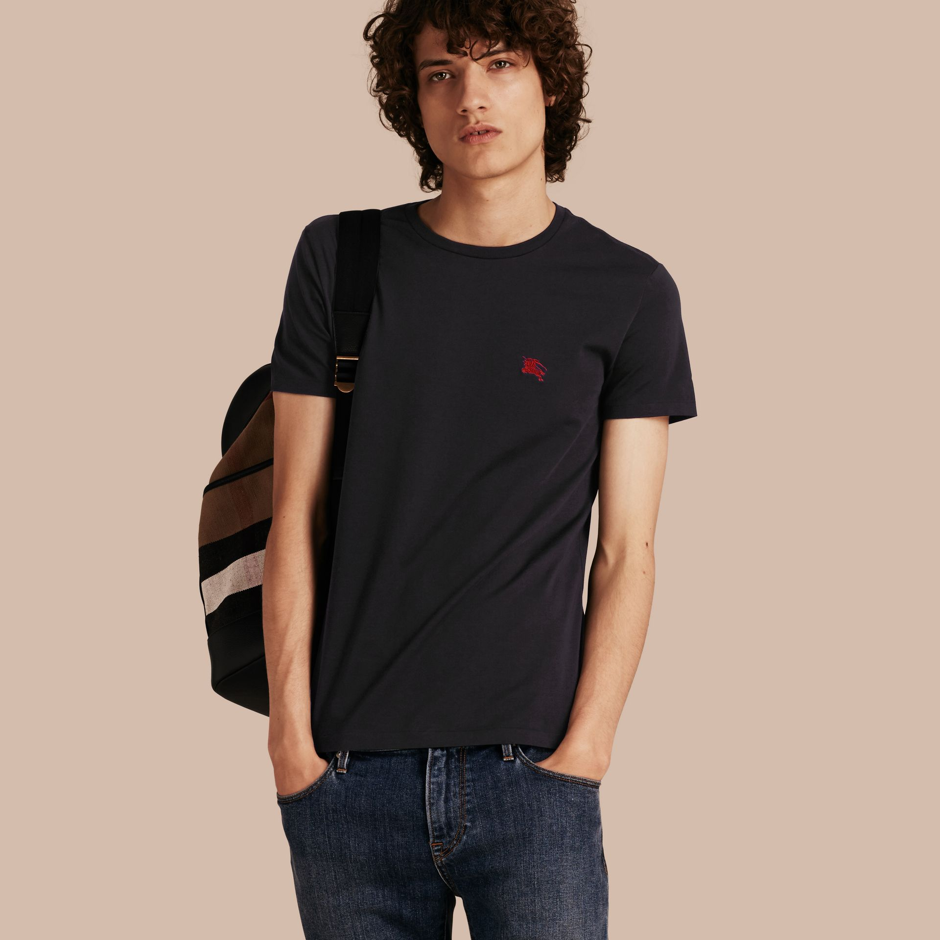 Cotton Jersey T-shirt Black - gallery image 1