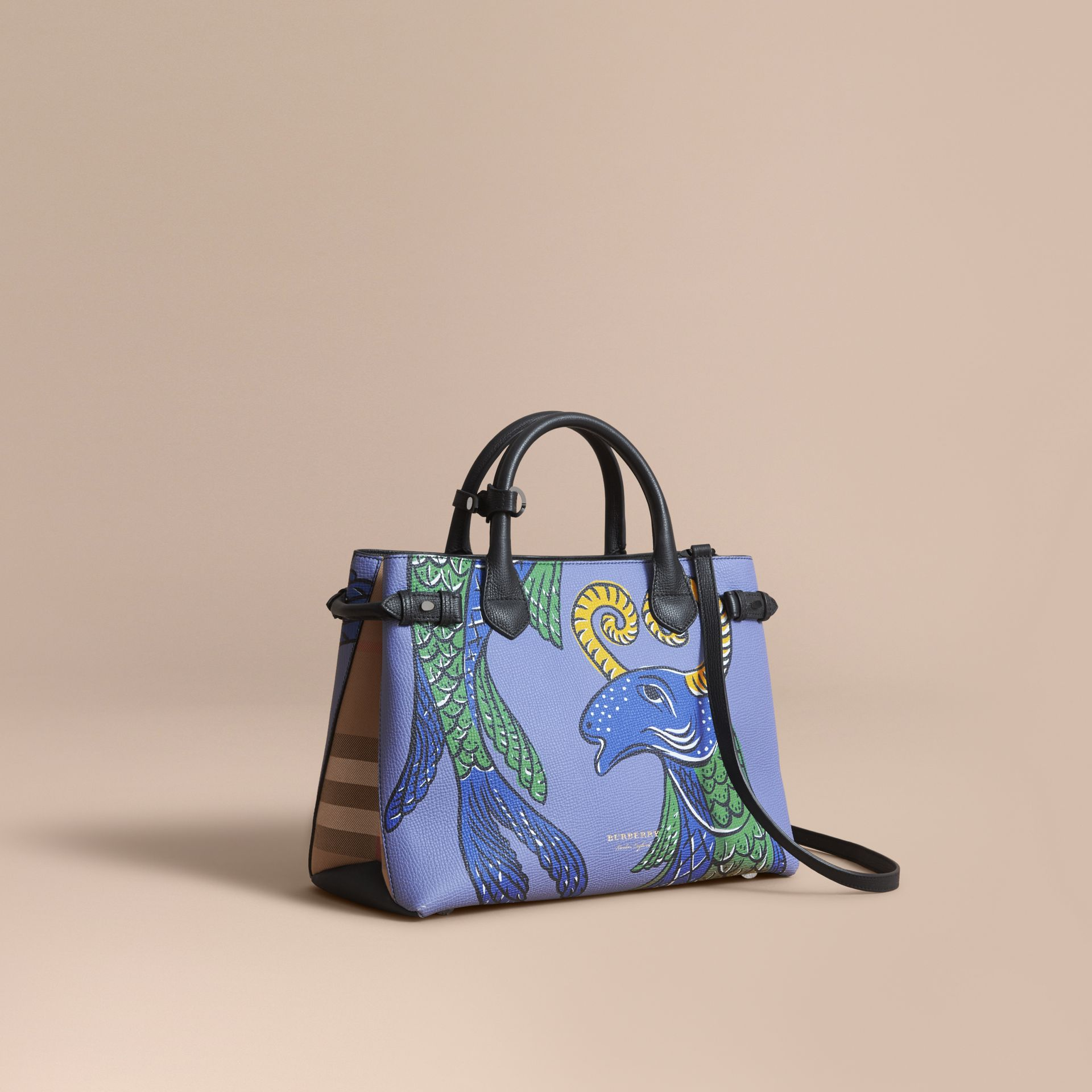 The Medium Banner in Beasts Print Leather - Women | Burberry Singapore - gallery image 1