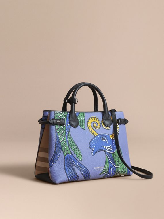 The Medium Banner in Beasts Print Leather - Women | Burberry