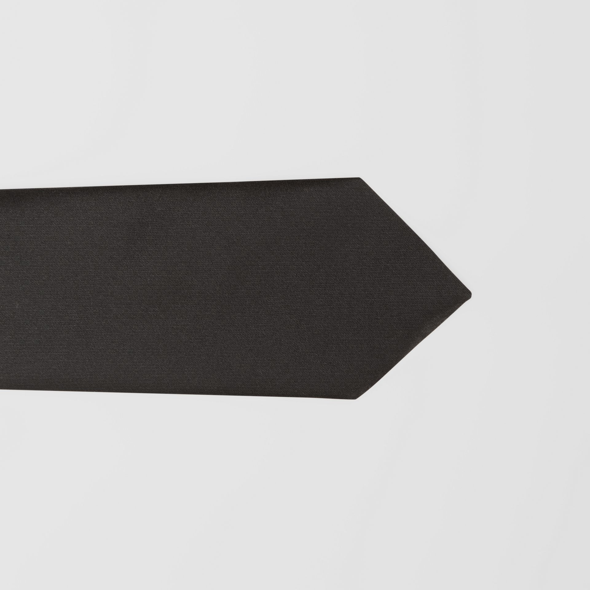Classic Cut Logo Appliqué Silk Satin Tie in Black - Men | Burberry - gallery image 1