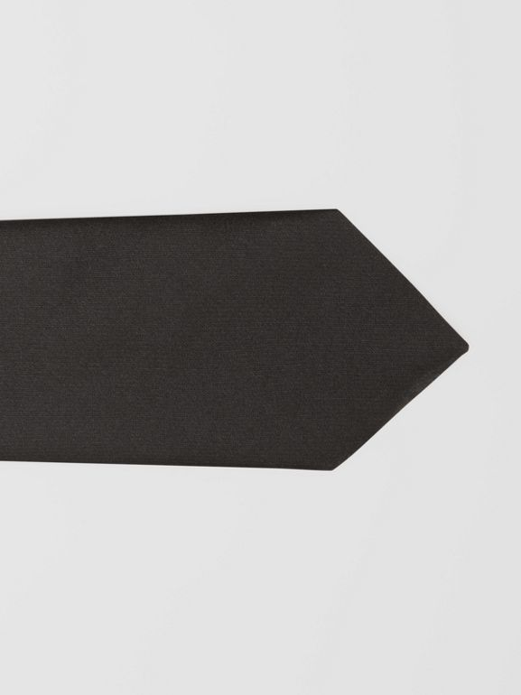 Classic Cut Logo Appliqué Silk Satin Tie in Black - Men | Burberry - cell image 1