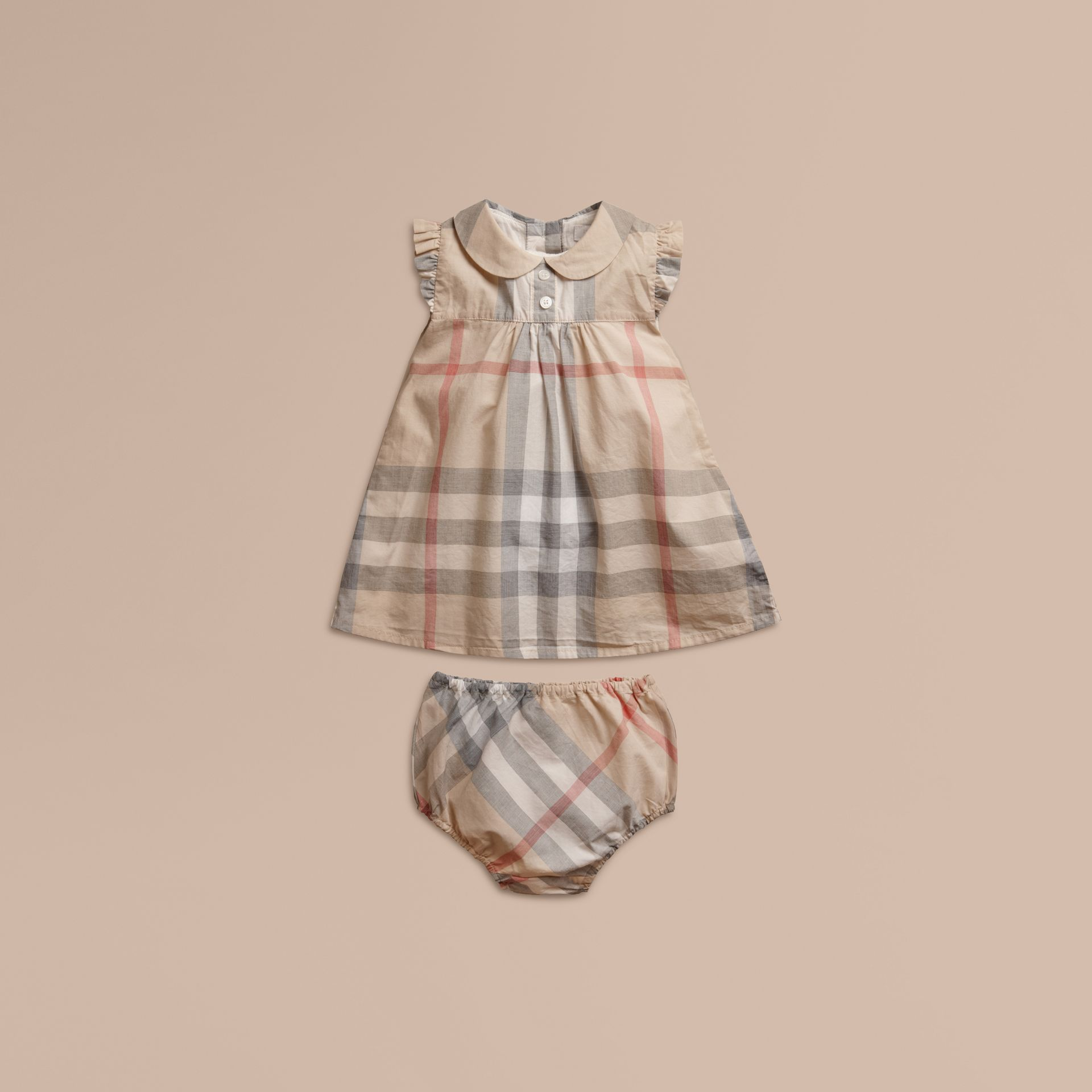 Pale classic check Washed Check Cotton Dress - gallery image 1